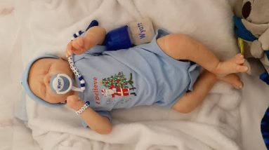 Reborn baby doll accessory package opening, cute Etsy and Zazzle reborn stuff!